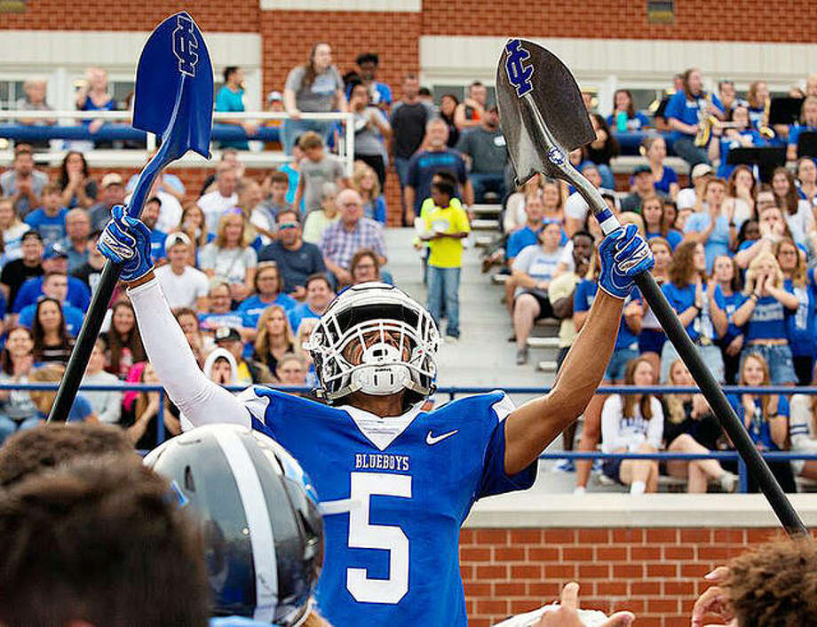 Ju'Qui Womack, an Illinois College freshman from Alton High, blocked a pair of punts, returning one for a touchdown in Saturday's 22-7 victory over Rhodes College in Jacksonville Photo: Tiffany And Steve Warmowski Photography