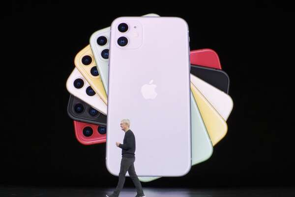 The iPhone 11 comes in six colors, some of them new.