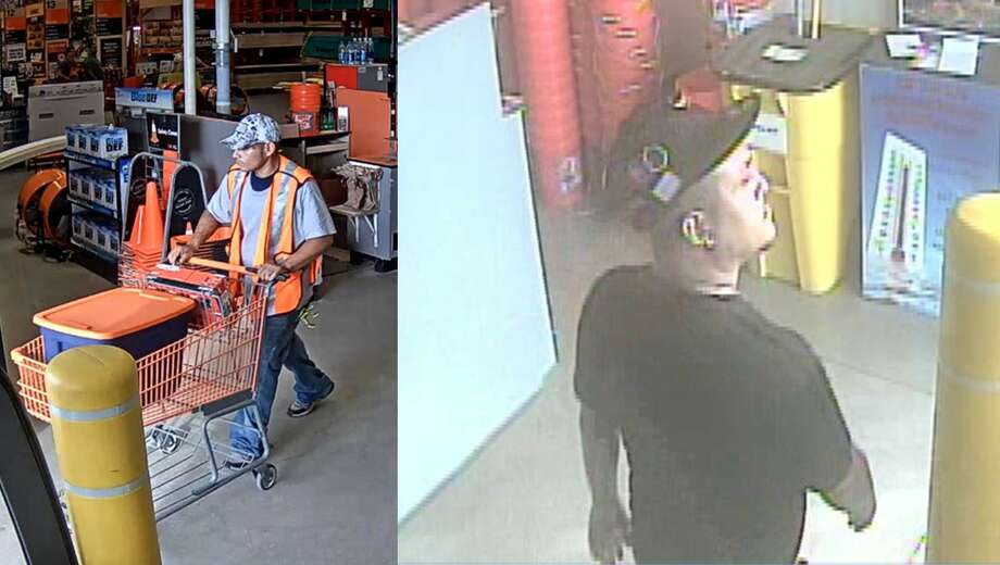 Crime Stoppers is looking for information on two men accused of taking tools from a San Antonio Home Depot. Photo: Crime Stoppers