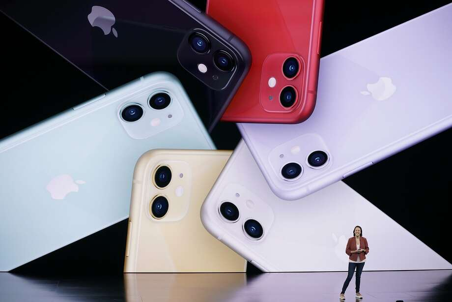 Kaiann Drance, Senior Director, Product Marketing, for the iPhone talks during an event to announce new products Tuesday, Sept. 10, 2019, in Cupertino, Calif. (AP Photo/Tony Avelar) Photo: Tony Avelar, Associated Press