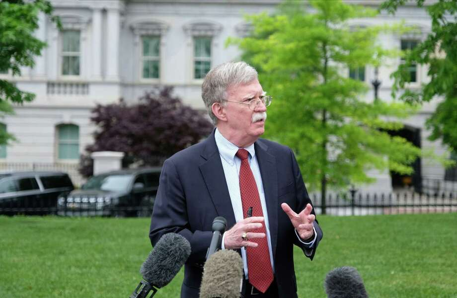 John Bolton speaks to the media at the White House in Washington on May 1, 2018. Photo: Bloomberg Photo By Alex Wroblewski. / © 2019 Bloomberg Finance LP