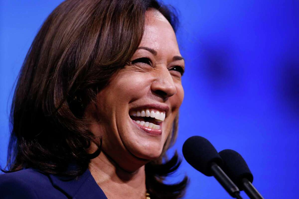 Democratic presidential candidate Sen. Kamala Harris, D-Calif., speaks during the New Hampshire state Democratic Party convention, Saturday, Sept. 7, 2019, in Manchester, N.H.