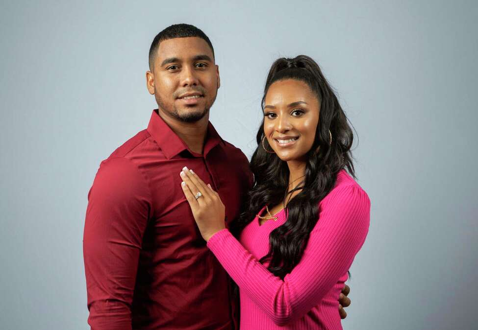 This July 23, 2019 photo shows Pedro Jimeno, left, and Chantel Everett posing for a portrait to promote their show,