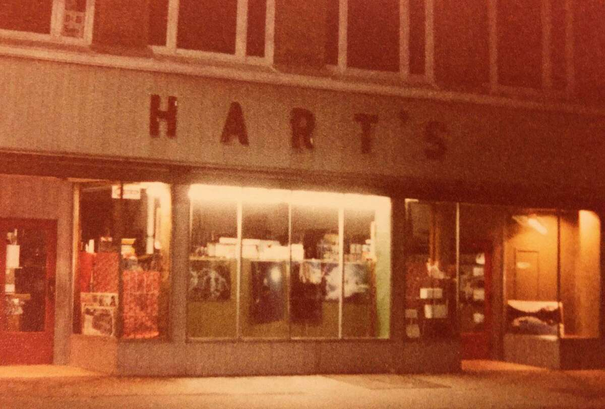 The original HART'S sign is shown above in this undated photo.