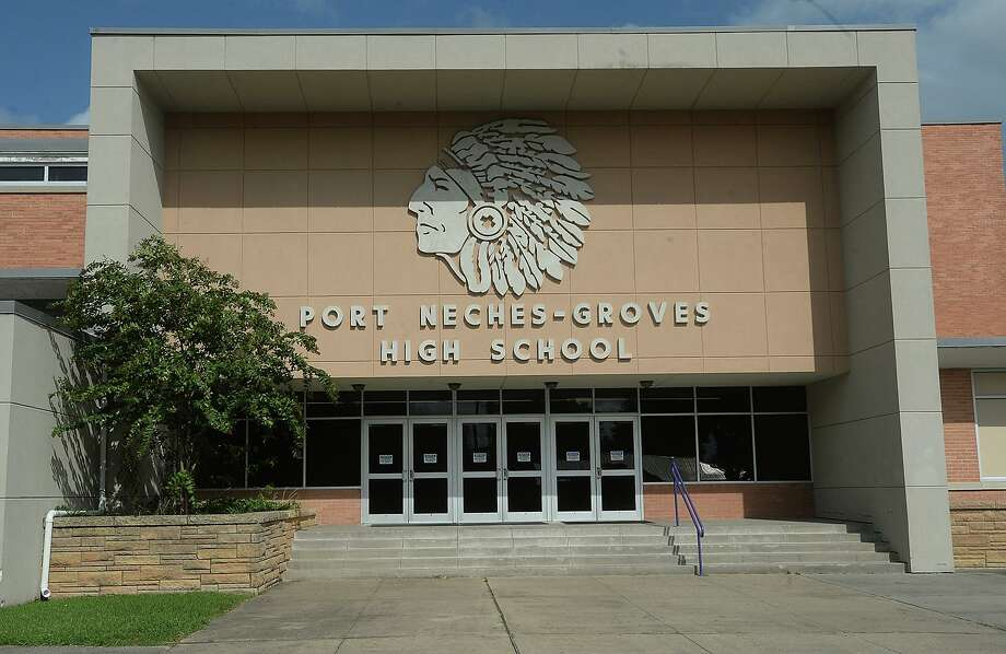 Port Neches - Groves High School is slated to get a new statue honoring its Indian Spirit mascot, thanks to the efforts of an alumni group spearheaded by Bill Sealey.  Photo taken Wednesday, August 19, 2015 Kim Brent/The Enterprise Photo: Kim Brent / Kim Brent/The Enterprise / Beaumont Enterprise