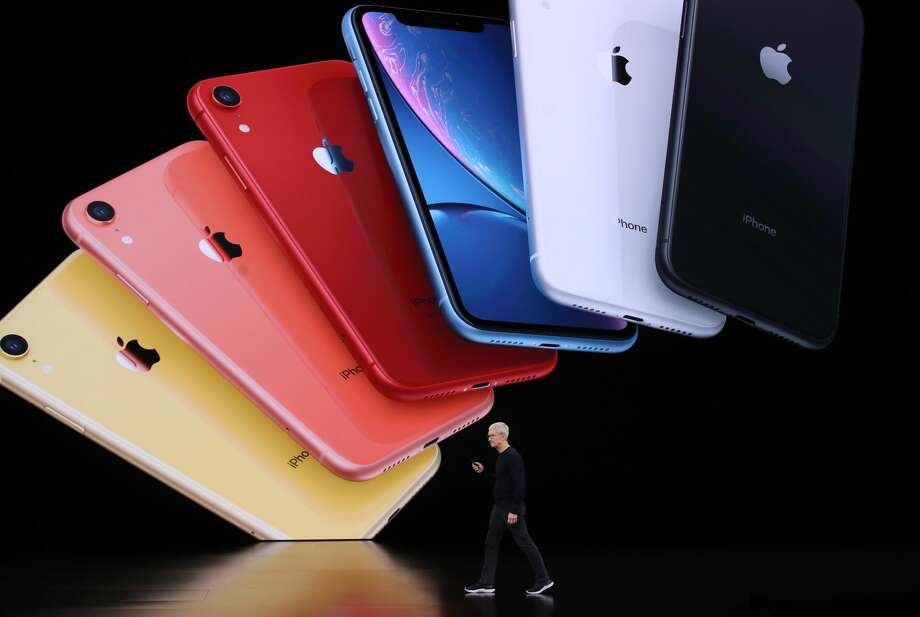 CUPERTINO, CALIFORNIA - SEPTEMBER 10: Apple CEO Tim Cook announces the new iPhone 11 as he delivers the keynote address during a special event on September 10, 2019 in the Steve Jobs Theater on Apple's Cupertino, California campus. Apple unveiled new products during the event.  (Photo by Justin Sullivan/Getty Images) Photo: Justin Sullivan/Getty Images