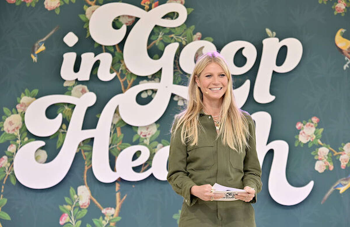FILE - Goop CEO Gwyneth Paltrow speaks onstage at In goop Health Summit Los Angeles 2019 at Rolling Greens Nursery on May 18, 2019 in Los Angeles, Calif. Goop is coming to San Francisco in the form of a permanent storefront and yet another health and wellness summit in Richmond.