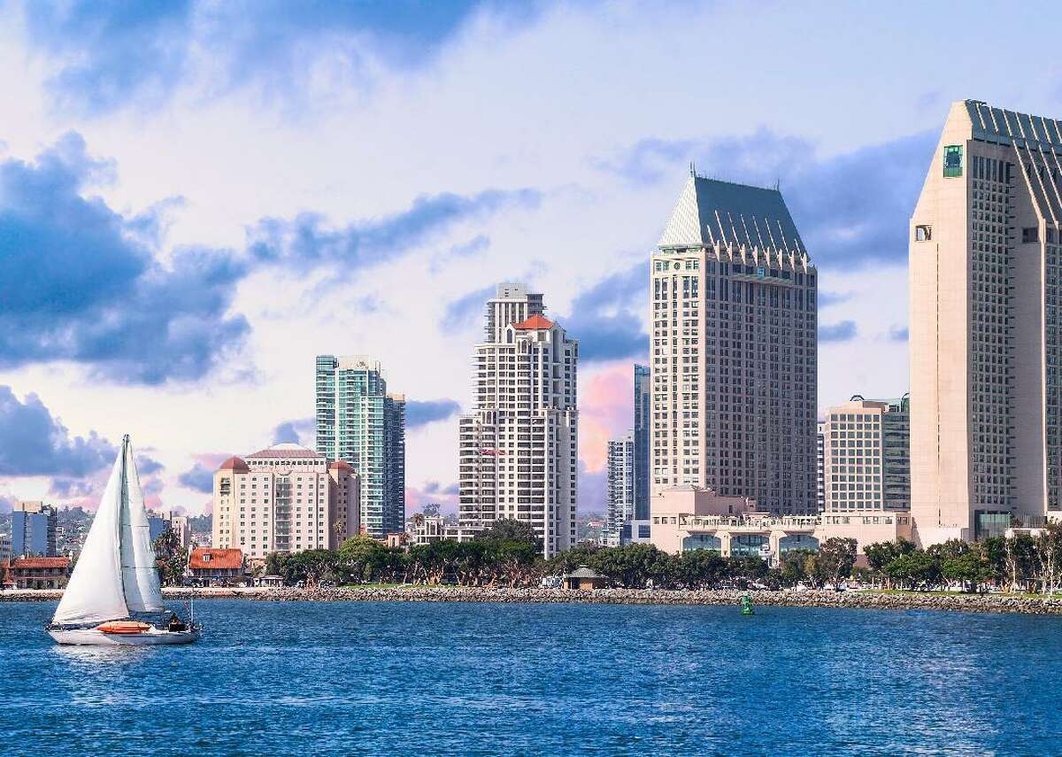 #15. San Diego, CA - 90/10 ratio in 2015: 6.5 - Median household income: $71,535 - Households making over $75,000: 47.9% - Households making less than $35,000: 24.3% San Diego is the eighth-largest city in the United States and the sister city of Tijuana, Mexico. Due to its natural deep-water harbor, the city is the home of several U.S. Navy, Marine, and Coast Guard bases, as well as many defense contractors including General Atomics and NASSCO. This, coupled with the city's standing as the home of several wireless cellular companies and biotechnology firms, has created a dichotomy where the city's highly-skilled, in-demand employees are seeing wage increases that the city's lower-skilled workers are not. This slideshow was first published on theStacker.com