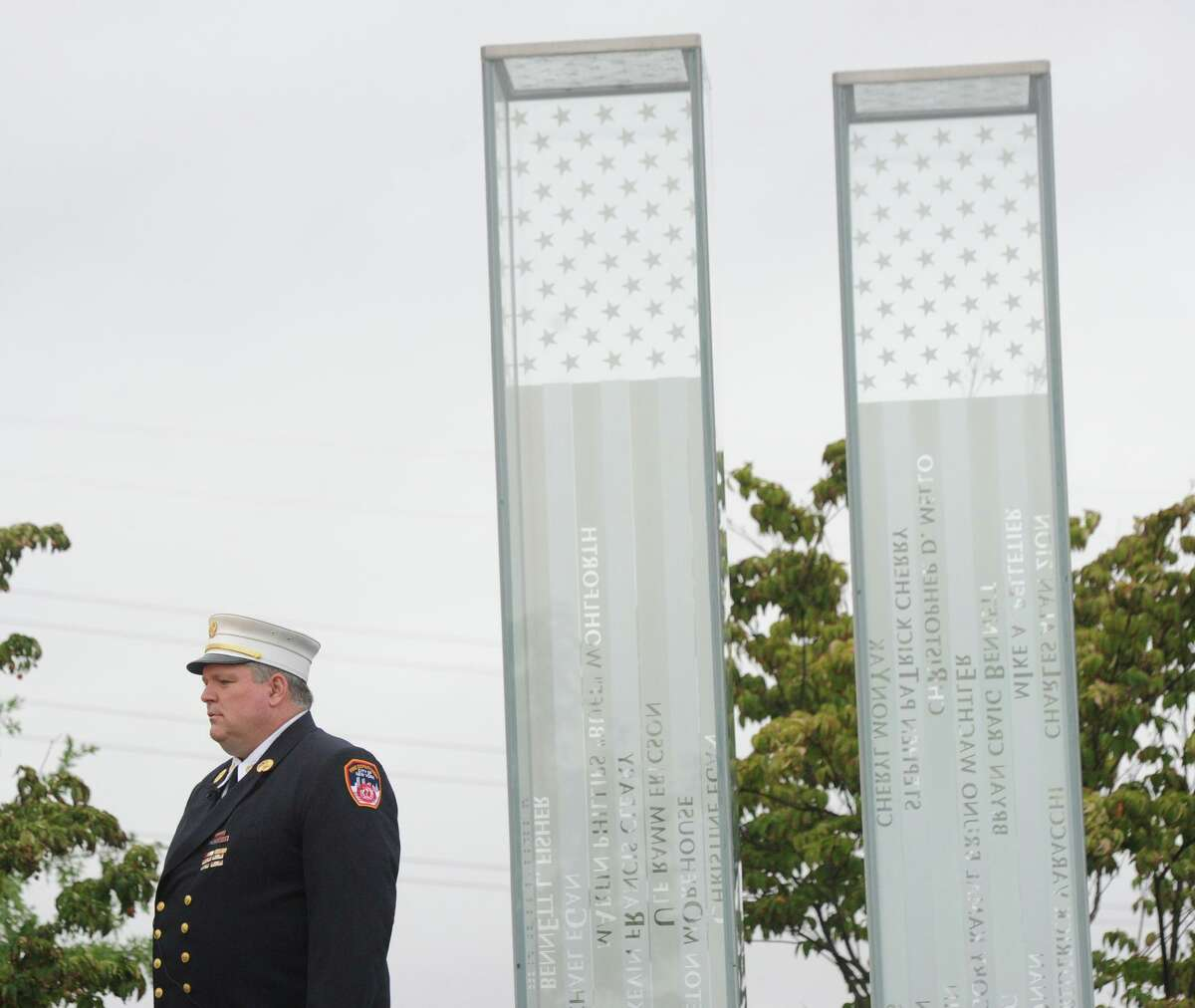 Photos of the September 11th Remembrance Service at Cos Cob Park in the Cos Cob section of Greenwich, Conn., Tuesday, Sept. 11, 2018. Thirty-three people with close ties to Greenwich were killed in the 9/11 attacks.