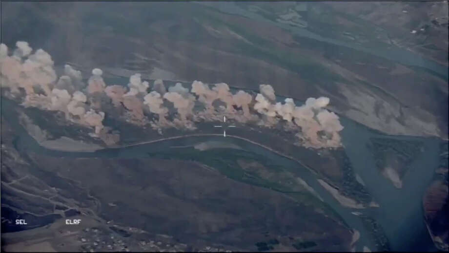 A video released by the US Air Force shows the bombing of Qanus Island in Iraq. Photo: US Air Force
