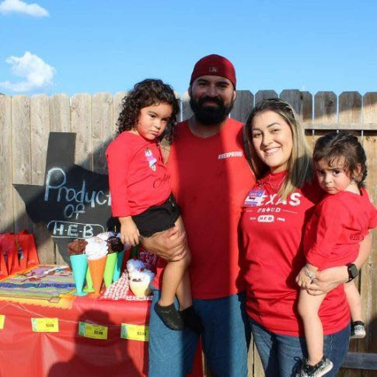 Jessica Belasquez shared the details of her daughter Alyna's third birthday party which was celebrated in full H-E-B theme. Even the H-E-Buddy was on hand.