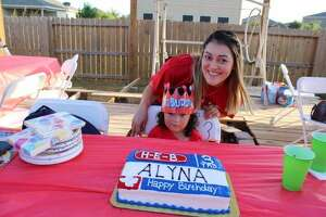 Jessica Belasquez shared the details of her daughter Alyna's 3rd birthday party which was celebrated in full H-E-B theme. Even the H-E-Buddy was on hand.