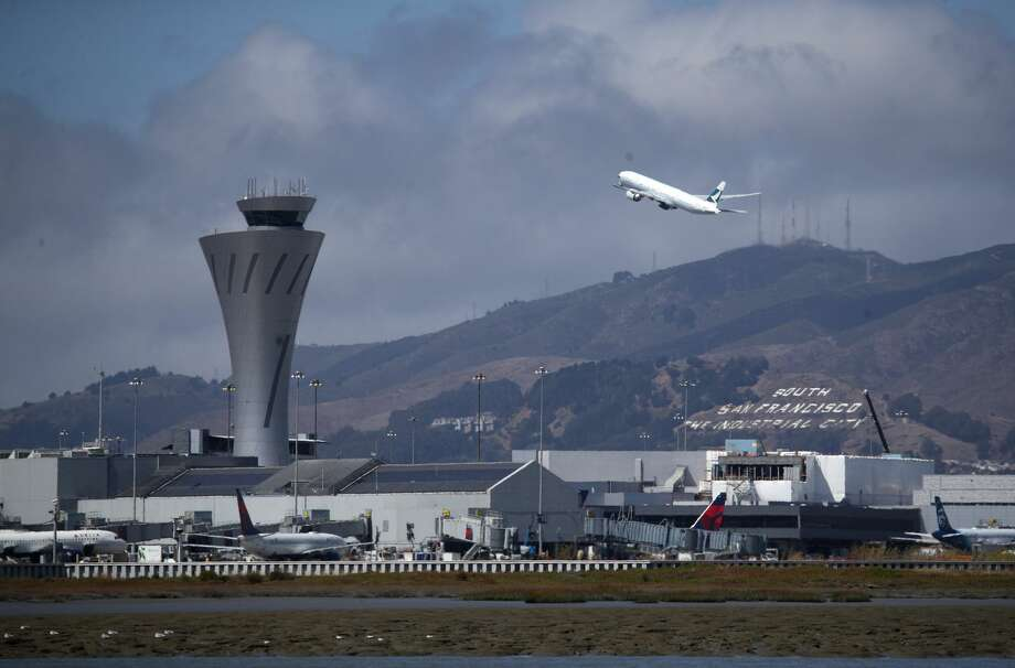 A plane takes off from San Francisco International Airport on September 09, 2019 in San Francisco, California. Hundreds of departing and arriving flights at San Francisco International Airport have been cancelled or significantly delayed each day since September 7 as a planned $16.2 million runway renovation project gets underway. The project is expected to be finished by September 27. Photo: Justin Sullivan/Getty Images
