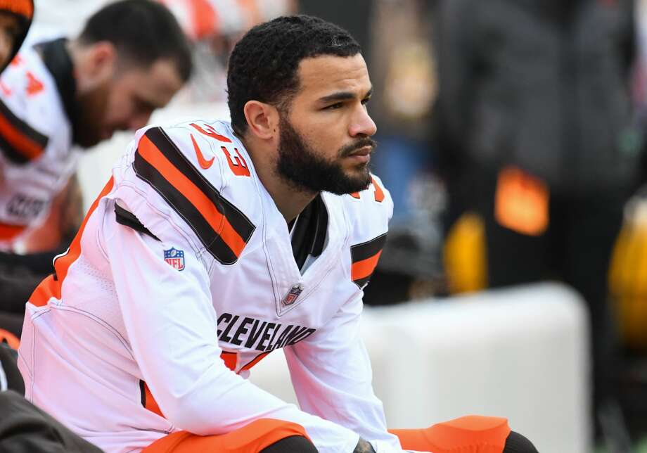 PHOTOS: Texans Against Saints CINCINNATI, OH - November 25, 2018: Cleveland Browns cornerback Phillip Gaines # 33 watches the sideline in the third quarter of a game against the Bengals in Cincinnati on November 25, 2018 at Paul Brown Stadium in Cincinnati, Ohio. Cleveland won 35-20. (Photo from: 2018 Nick Cammett / Diamond Images / Getty Images) & gt; & gt; See photos of the Texans opening season against the Saints ... Photo: Diamond Images / Diamond Images / Getty Images