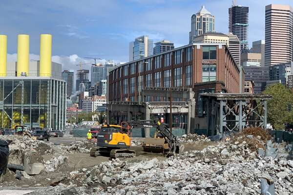 One of the last sections of the 60-year-old Alaskan Way Viaduct on Sept. 10, 2019.