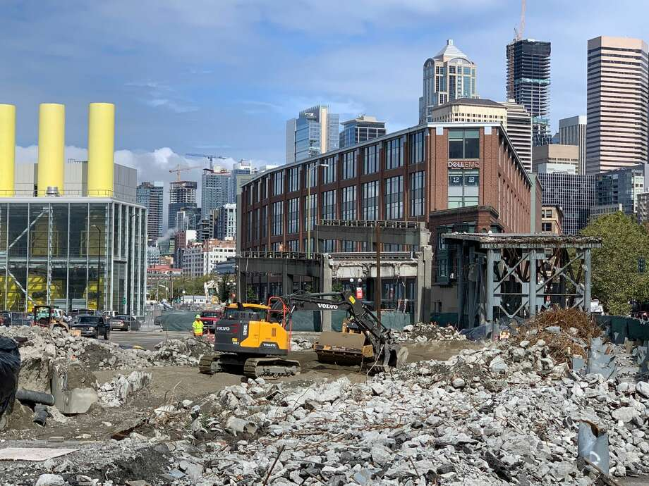 One of the last sections of the 60-year-old Alaskan Way Viaduct on Sept. 10, 2019. Photo: Alex Halverson/SeattlePI
