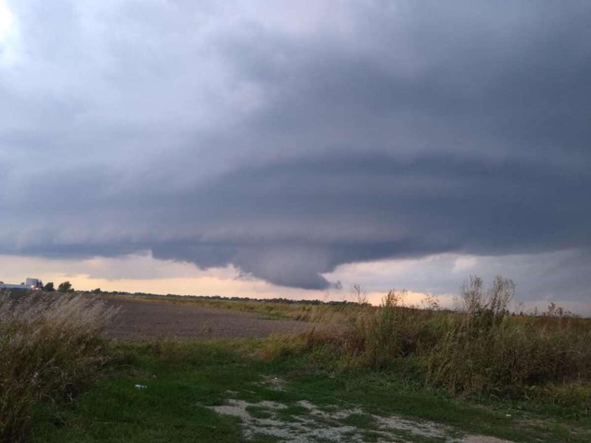 A view of clouds from M-46 near I-75 during a round of severe thunderstorms that passed through the region. (Photo provided/Audrey Kennard)