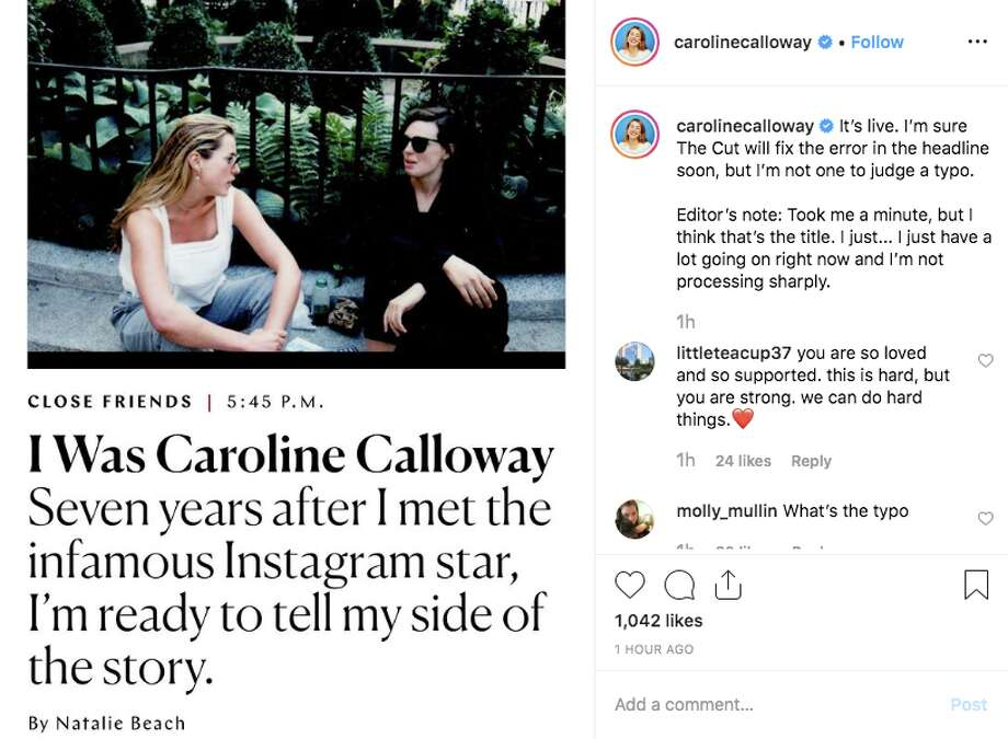 Natalie Beach, who grew up in New Haven, recently published a contentious op-ed in The Cut, detailing her seven-year relationhship of ghostwriting Instagramer Caroline Colloway's account. Photo: Photo From Instagram/@CarolineCalloway