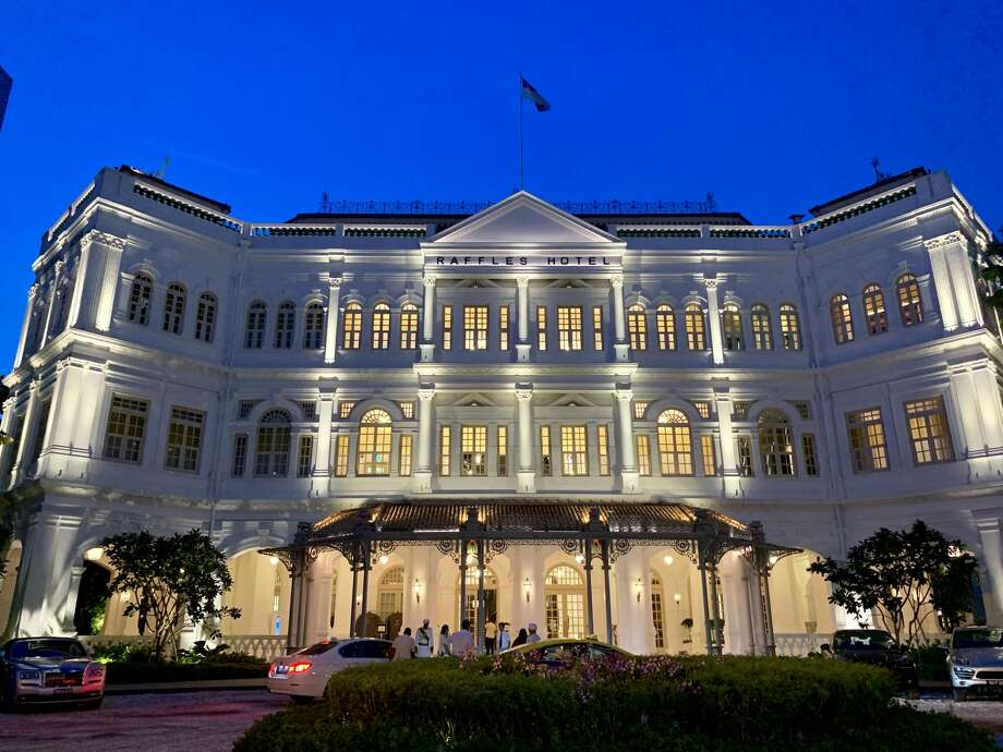 The iconic Raffles Hotel in Singapore looks fresh after an extensive renovation that closed the hotel for two years. Photo: Tim Jue