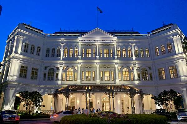 Front of the Raffles hotel