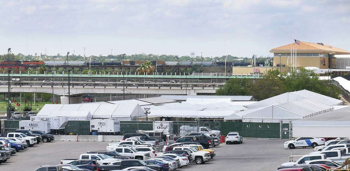Located a short distance from the Rio Grande, the Migrant Protection Protocols Immigration Hearing Facilities in Laredo, shown in this September 2019 photo, are adjacent to the Gateway to the Americas International Bridge.