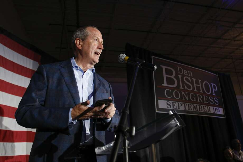 Dan Bishop, a Republican state senator, scored a narrow victory Tuesday in a special House election in North Carolina. President Trump came to the state to campaign for Bishop. Photo: Nell Redmond / Associated Press