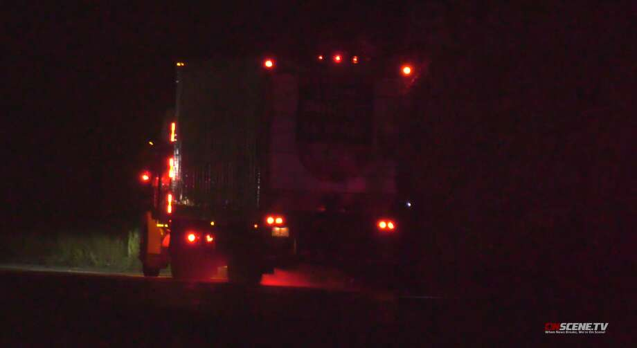 A pedestrian was hit and killed Tuesday, Sept. 10, by a big rig in the 11800 block of Clay Road, Houston police said. Photo: OnScene TV