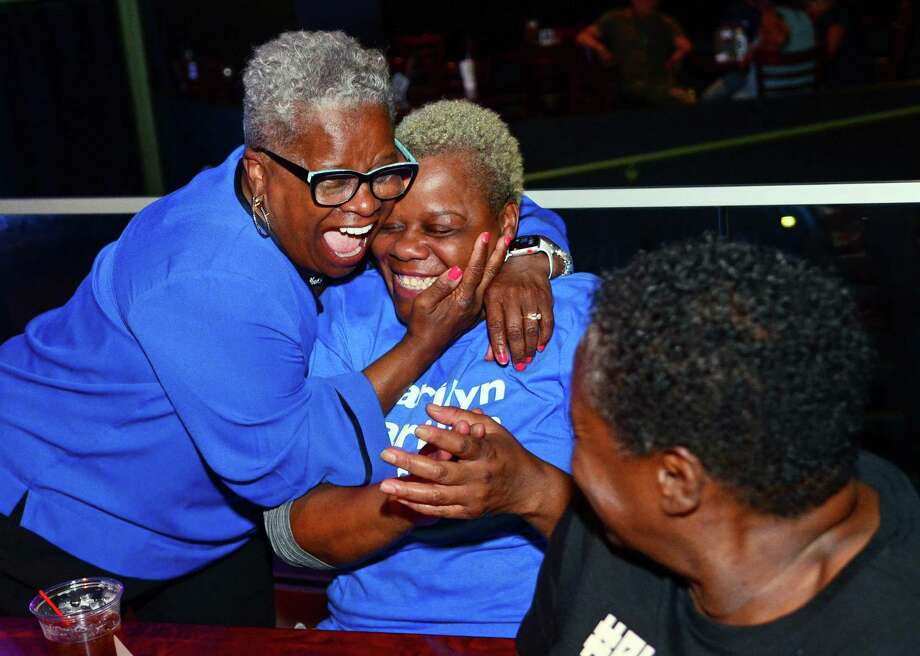 State Senator Marilyn Moore hold her primary election campaign party at the Bijou Theater in Bridgeport, Conn., on Tuesday Sept. 10, 2019. Moore unofficially lost her primary challenge against Mayor Joe Ganim. Photo: Christian Abraham / Hearst Connecticut Media / Connecticut Post