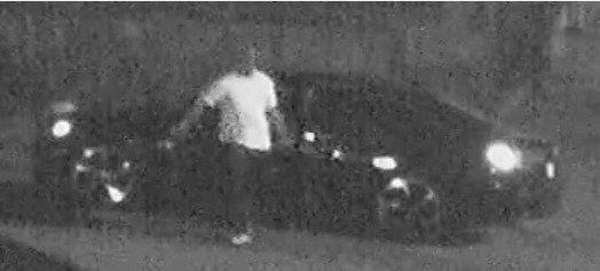 Oakland police are asking for the public's help in identifying this vehicle and suspect wanted in connection with the stray-bullet killing of a mother of five in Oakland on Sept. 2, 2019.
