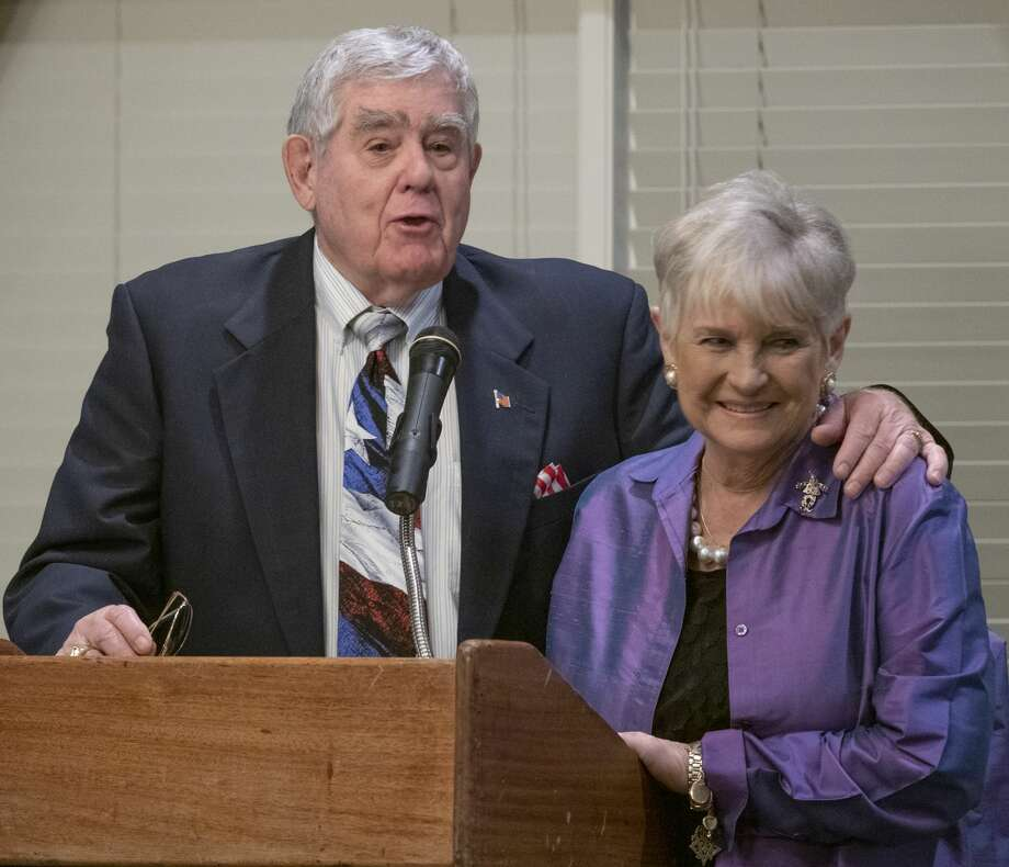 Don and Gwyndolyn Sparks, recipients of the 2019 Grandparents of the Year award 09/10/19 by the Mission Center Adult Day Services Grandparents of the Year 2019 dinner at Midland Country Club. Tim Fischer/Reporter-Telegram Photo: Tim Fischer/Midland Reporter-Telegram