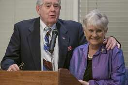 Don and Gwyndolyn Sparks, recipients of the 2019 Grandparents of the Year award 09/10/19 by the Mission Center Adult Day Services Grandparents of the Year 2019 dinner at Midland Country Club. Tim Fischer/Reporter-Telegram