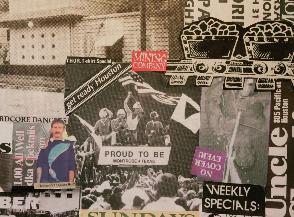 The new Postino WineCafe in Montrose features a wall with archival clippings and photos from its past as one of the neighborhood's iconic gay bars. Postino, in the former home of Montrose Mining Company, opens Sept. 15.