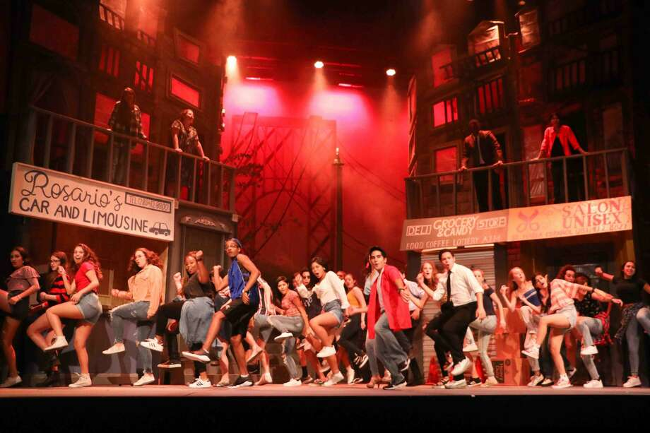 "Dawson High performers present a swirl of music and dance traditions in ""In the Heights,"" which examines change in a New York City barrio. Photo: Pearland ISD"