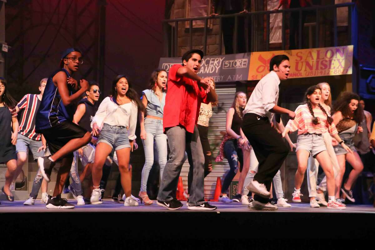 The scenic design for Dawson's production was inspired by the set of Lin-Manuel Miranda's breakout musical when it debuted on Broadway in 2008.
