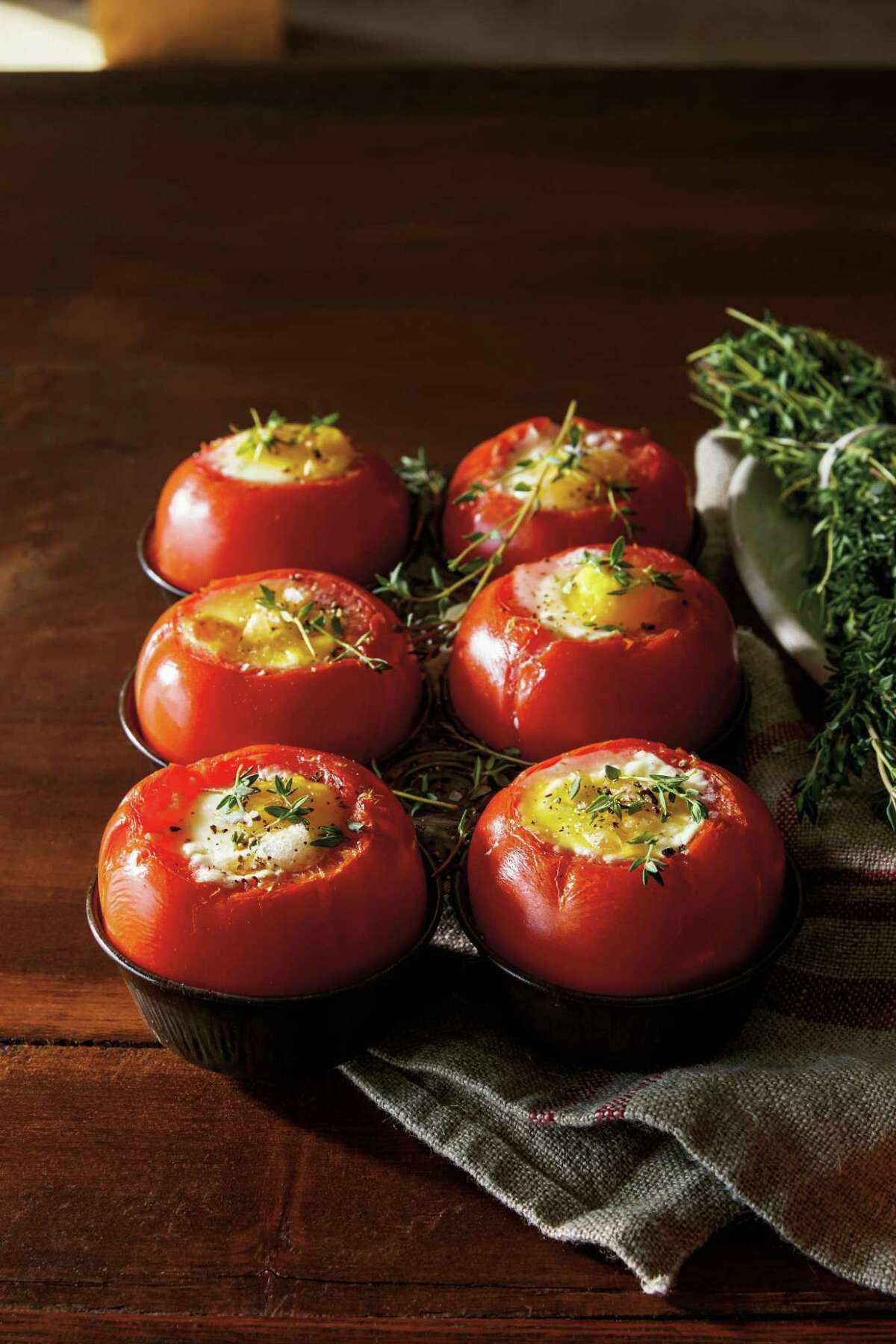 Stuffed Tomatoes from 'The Official Downton Abbey Cookbook' by Annie Gray