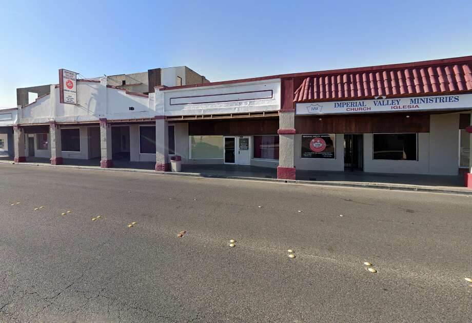 Imperial Valley Ministry's religious leaders - were charged on Tuesday with forced labor for luring in dozens of victims under false pretenses only to lock them inside group homes and compel them to panhandle for the church's profit. Photo: Google Street View