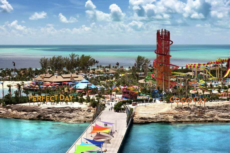 An aerial view of Coco Cay, the private island for Royal Caribbean International cruise line, in the Bahamas, photographed Sunday, Sept. 8, 2019. Coco Cay sustained only superficial damage from Hurricane Dorian. Photo: Joe Burbank, TNS / Orlando Sentinel