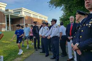 Darien's first responders were in attendance at the ceremony Wednesday.