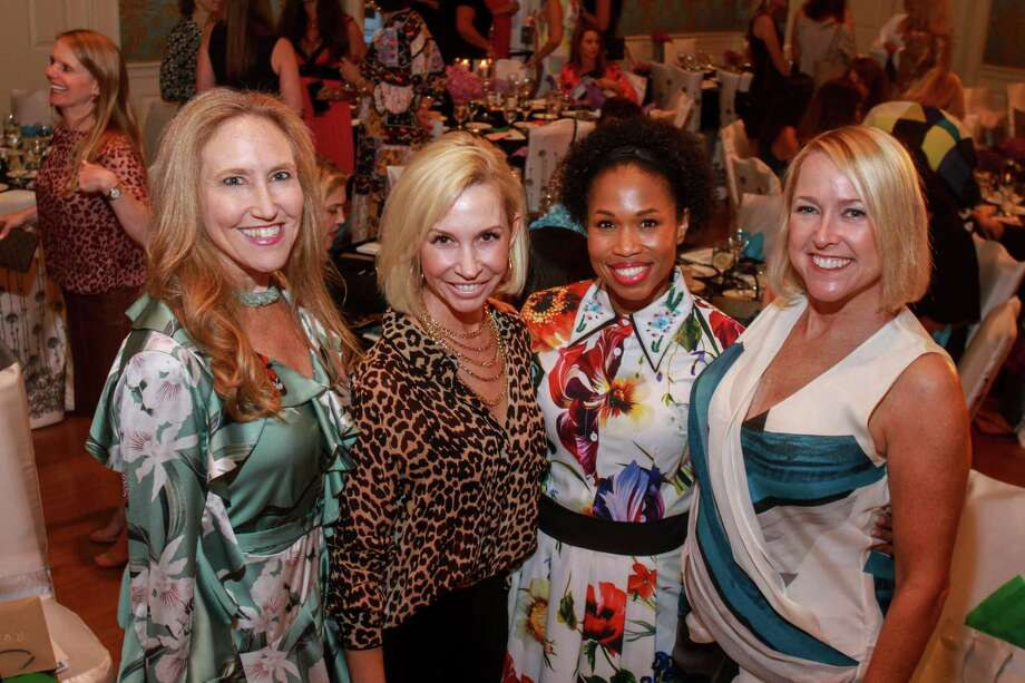 Bailey Dalton, from left, Rachael Delamora, Roslyn Bazzelle Mitchell and Nancy Mathé at Fashion Unlocked, the Junior League Style Show on September 10, 2019. Photo: Gary Fountain, Contributor / Copyright 2019 Gary Fountain
