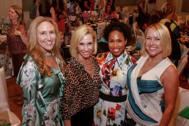 Bailey Dalton, from left, Rachael Delamora, Roslyn Bazzelle Mitchell and Nancy Mathé at Fashion Unlocked, the Junior League Style Show on September 10, 2019.