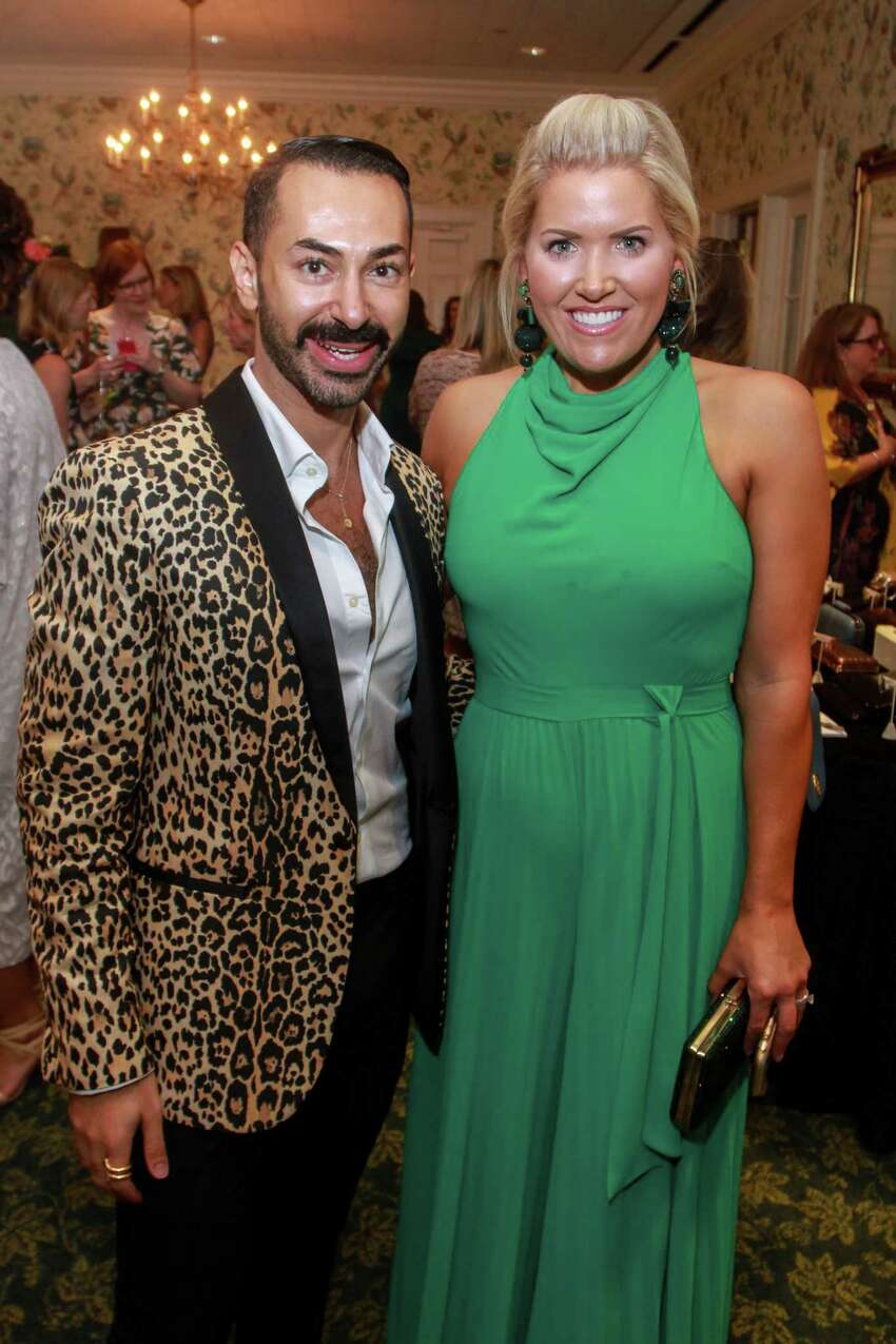 Fady Armanious and Amanda Boffone at Fashion Unlocked, the Junior League Style Show on September 10, 2019.