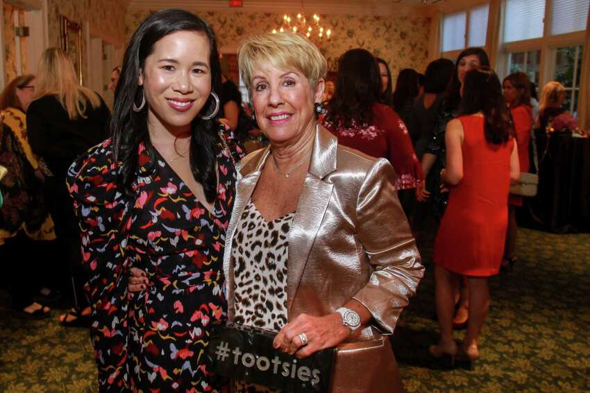 Stephanie Fleck, left, and Donna Lewis at Fashion Unlocked, the Junior League Style Show on September 10, 2019.