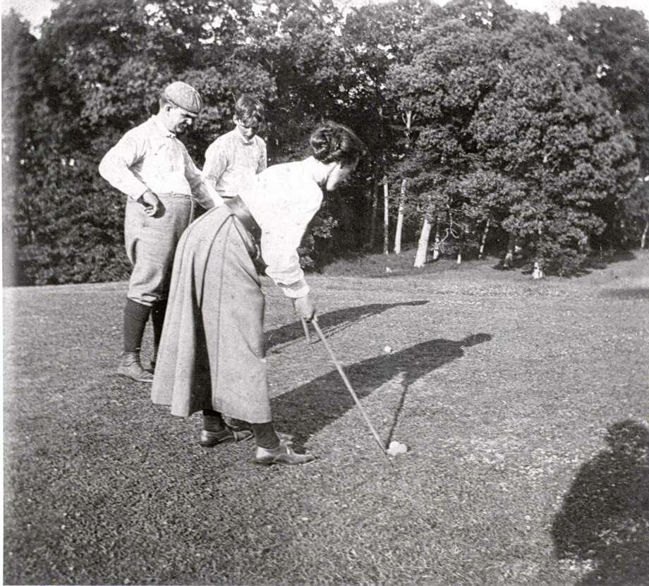 Golfers at Brooklawn Country Club in the 1920s. Photo: Contributed Photo