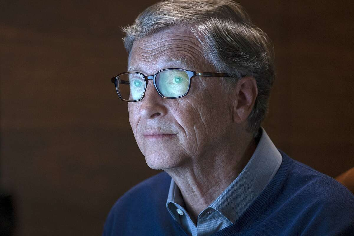 """This image released by Netflix shows billionaire philanthropist Bill Gates in a scene from """"Inside Bill's Brain: Decoding Bill Gates,"""" streaming Sept. 20."""