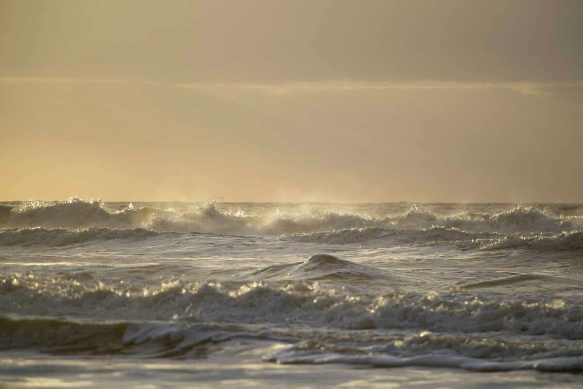 The sun rises on the beach in Barra Del Chuy, Uruguay on April 6, 2019.