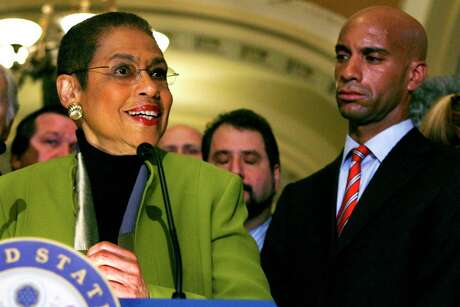 District of Columbia delegate Eleanor Holmes Norton, left, was first elected as a non-voting member of the U.S. House in 1990. But unlike any other American city, the capital has no vote in Congress and its budget and other major decisions are subject to congressional oversight. Now, young Washingtonians are urging Democrats to back their push to make the capital the 51st state.