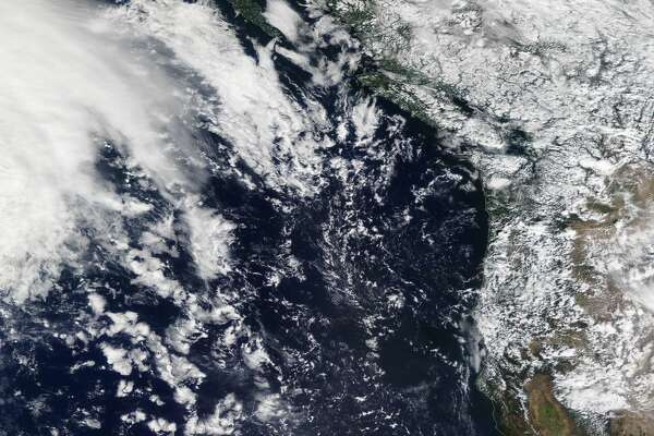 The National Weather Service tweeted this photo of a storm approaching the Pacific Northwest.
