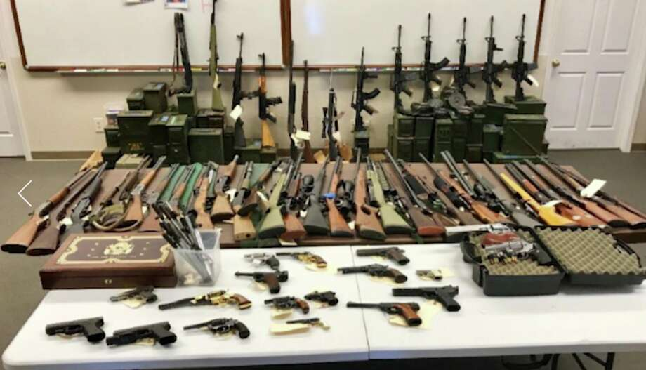 Authorities investigating possible restraining order violations seized an arsenal hidden in an underground survival bunker near Red Bluff. The owner of the property, Gary Stiles, 62, was arrested and jailed Monday on numerous weapons violations. Photo: Tehama County Attorney's Office
