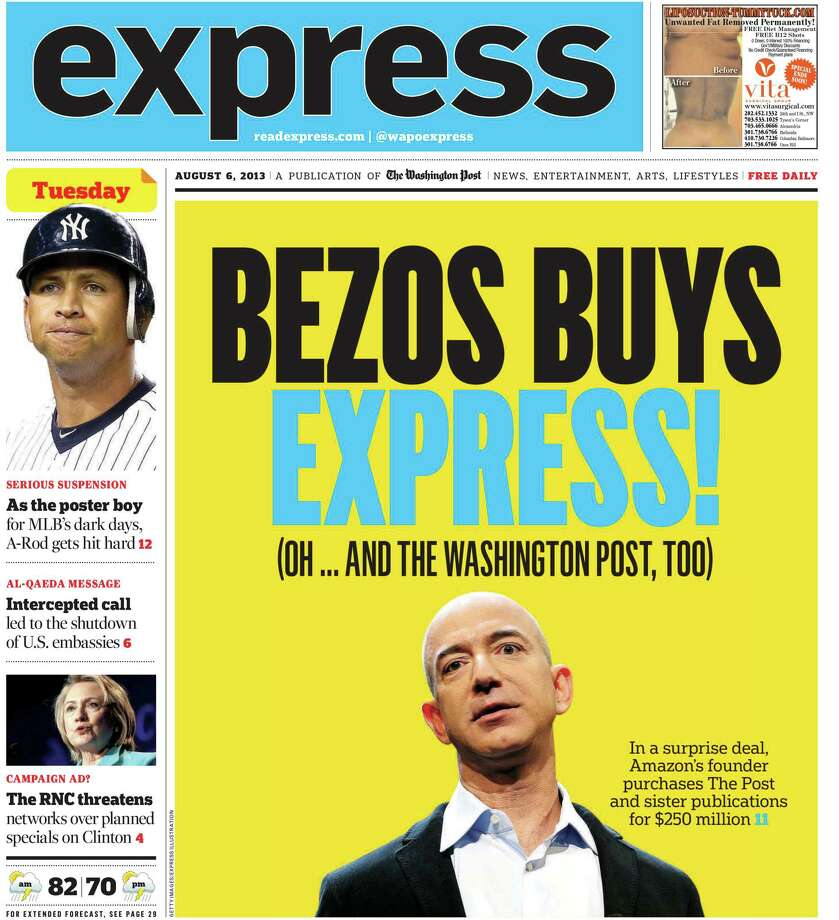 Express, the free newspaper published weekdays by The Washington Post for subway riders and other commuters, is shutting down, ending 16 years of publication. Photo: The Washington Post / The Washington Post