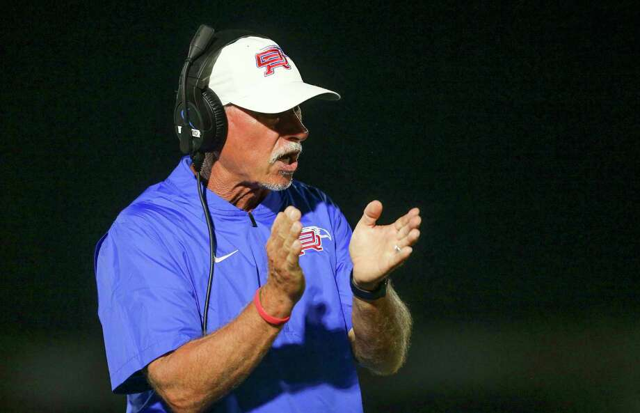 Oak Ridge coach Mark Schmid will be taking on The Woodlands, the program he led for 14 seasons, on Friday night at Moorhead Stadium. Photo: Thomas B. Shea, Contract Photographer / For The Chronicle / © 2019 Thomas B. Shea